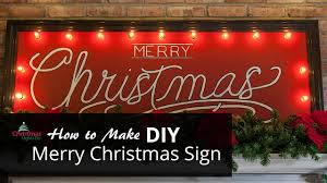 Merry Christmas Light Up Sign For Roof Diy Merry Christmas Sign With Marquee Lights