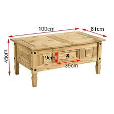 corona solid pine 1 drawer coffee table hampton 4