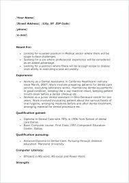 Dental Assistant Resume Template Mesmerizing Dental Resume Samples Dental Assistant Resume Examples Dental