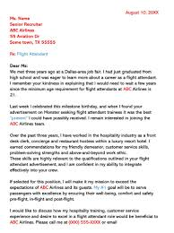 Sample Resume For Flight Attendant Flight Attendant Cover Letter Sample Letters Email Examples
