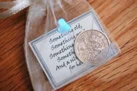 lucky sixpence bridal gift something blue traditional good luck charm
