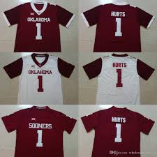 Jalen Order Mix Size College Stitched 2019 Jerseys Murray 1 Style Kyler s-xxxl New Jumpman Mayfield Sooners 6 Oklahoma Hurts Baker Can