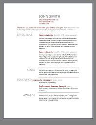 Resume Examples Sample Resume Templates Microsoft Word Builder