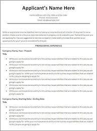 Resume Free Chronological Resume Template Microsoft Word Best