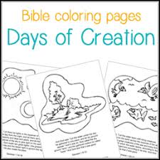 Small Picture Bible Coloring Pages Days of Creation Daniel in the Lions Den