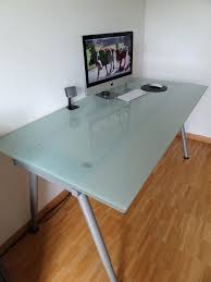 glass office desk ikea. Frosted Glass Office Desk Atken Pertaining To Prepare Ikea