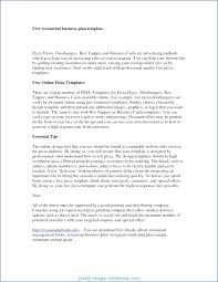 Small Business Plans Template Restaurant Plan 6 Free Word Documents ...