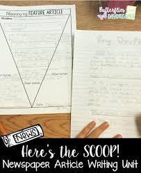 Newspaper Article Writing Unit Heres The Scoop Writing