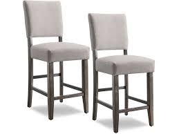 gray counter height chairs. Perfect Counter Leick Furniture Wood Upholstered Back Counter Height Stool With Heather Gray  Seat  Set Of 2 In Chairs I