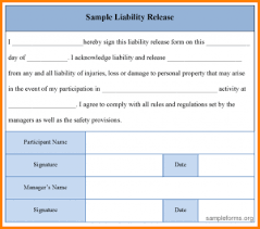 Waiver Of Liability Statement | Template Business
