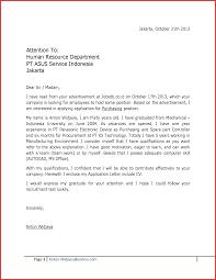 Best Of Application Letter Sample For Fresh Graduate Type Of Resume