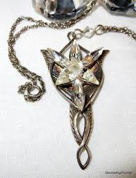 the evenstar sterling silver arwen evenstar lord of the rings necklace 18 inch