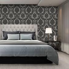san remo damask wallpaper charcoal