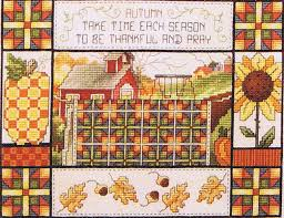 Fall Quilt - cross stitch pattern by Stoney Creek &  Adamdwight.com
