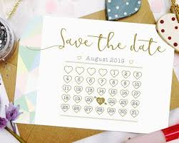How To Make A Save The Date Card Personalised Save The Date Calendar Save The Date Cards