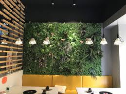 Awesome Check This Restaurant Interior Green Wall Decoration Idea! Fully Represent  The Concept Of Nature And Green To Customers! We Offer This Artificial  Green Wall ...