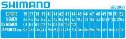 Shimano Shoe Size Chart Shimano Sh Rp2 Spd Touring Road Cycling Black Shoes 39