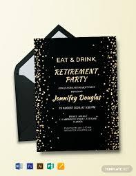 Retirement Invitations Free Free Surprise Retirement Party Invitation Template Word