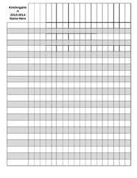 Grade Book Template Microsoft Word Editable Gradebook Template