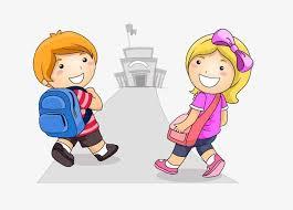 Resultado de imagem para alunos a caminho da escola