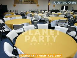 round white tablecloths white plastic chairs with round table with white table cloth and yellow overlay