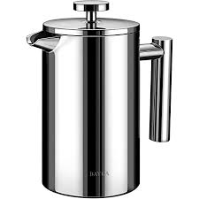 Common misspellings of the word coffee are: Amazon Com Mueller French Press Double Insulated 310 Stainless Steel Coffee Maker 4 Level Filtration System No Coffee Grounds Rust Free Dishwasher Safe Kitchen Dining