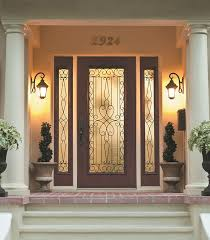 wyngate wrought iron door glass outside view