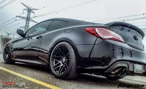 hyundai genesis coupe black. forgestar f14 gloss black on hyundai genesis coupe s