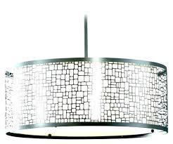 black drum light hanging shade fixture awesome large jolie antique crystal semi flush mount chandelier