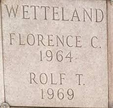 Florence Melanie Carpenter Wetteland (1887-1964) - Find A Grave Memorial
