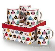 triple crown racing silks mugs set of 4 mugs horse racing gifts by pomegranate inc 1540850 at horse and hound gallery
