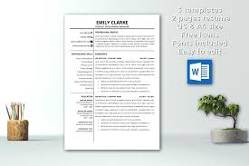 Download Professional Resumes Modern Resume Template Instant Download Professional Cover Letter Cv