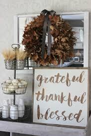 Grateful  Thankful  Blessed DIY Thanksgiving Sign