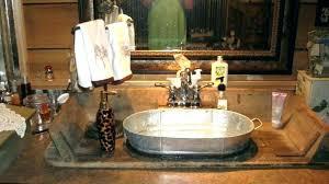 magnificent galvanized sink galvanized bucket sink bathrooms small galvanized buckets metal bathroom accessories wash tubs rustic utility in steel