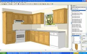 Kitchen, Unbelievable Blue Frame Application In A Light Brown Cabinets And  White Oven Kitchen Cabinet