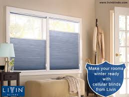 Make your rooms winter ready with cellular window blinds from Livin
