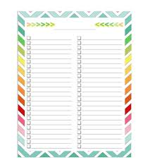 List Template Free 50 Printable To Do List Checklist Templates Excel Word