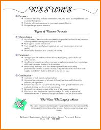 12 Types Of Curriculum Vitae Format Xavierax