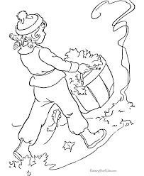 Small Picture Coloring Pages Of Raking Leaves Coloring Pages