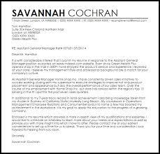 Ideas Collection Assistant General Manager Cover Letter Sample For
