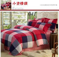plaid twin comforter sets red cotton bedspread michael 14