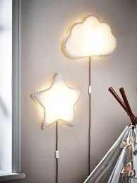 star and cloud shaped wall lamps will fit most of kids spaces