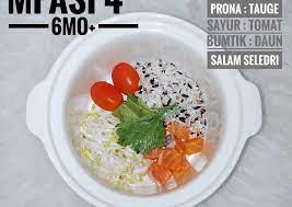 Resep mpasi bubur tempe daging ayam wortel untuk bayi umur 8 bulan +. Resep Menu Mpasi 4 Bintang 6mo Bubur Salmon Slowcooker Bisa Manjain Lidah Resep Masakan Indonesia