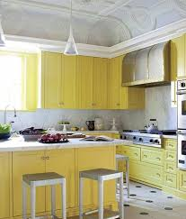 Yellow Kitchen Backsplash Yellow Kitchen Cabinet Paint Colors With Marble Backsplash