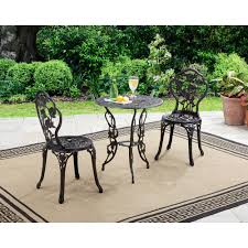best 3 piece black wrought iron bistro sets home depot for amazing patio decor