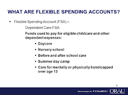 Section 125 Flexible Spending Account Plans Dependent Care Medical