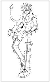 Small Picture Kingdom Hearts Coloring Pages Axel Info