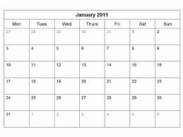 mothly calendar free 2011 monthly calendar template