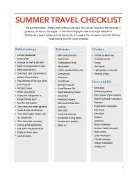 Summer Travel Checklist Canadian Military Family Magazine