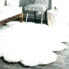 white faux fur rug large area rugs sheepskin hand woven white faux fur rug